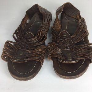 Frye Shoes - Frye Womens Open Toe Brown Leather Boho Sandals